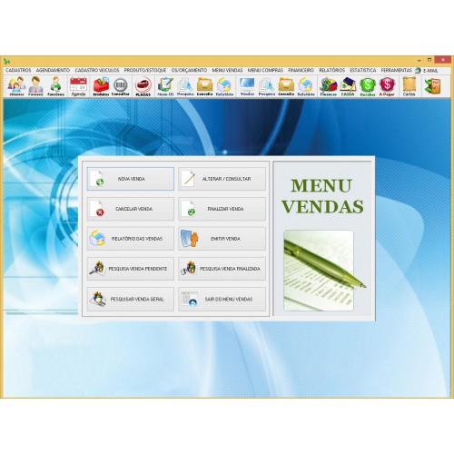 Software Oficina Mecânica, OS, Vendas, Estoque e Financeiro 4.0